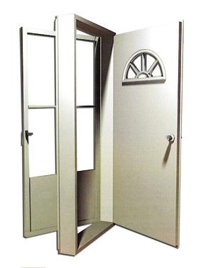 8000 Series Vinyl Steel Housetype Combination door